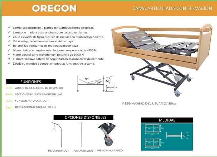 Cama Articulada Oregon: TIENDA ONLINE de Ortopedia La Fama