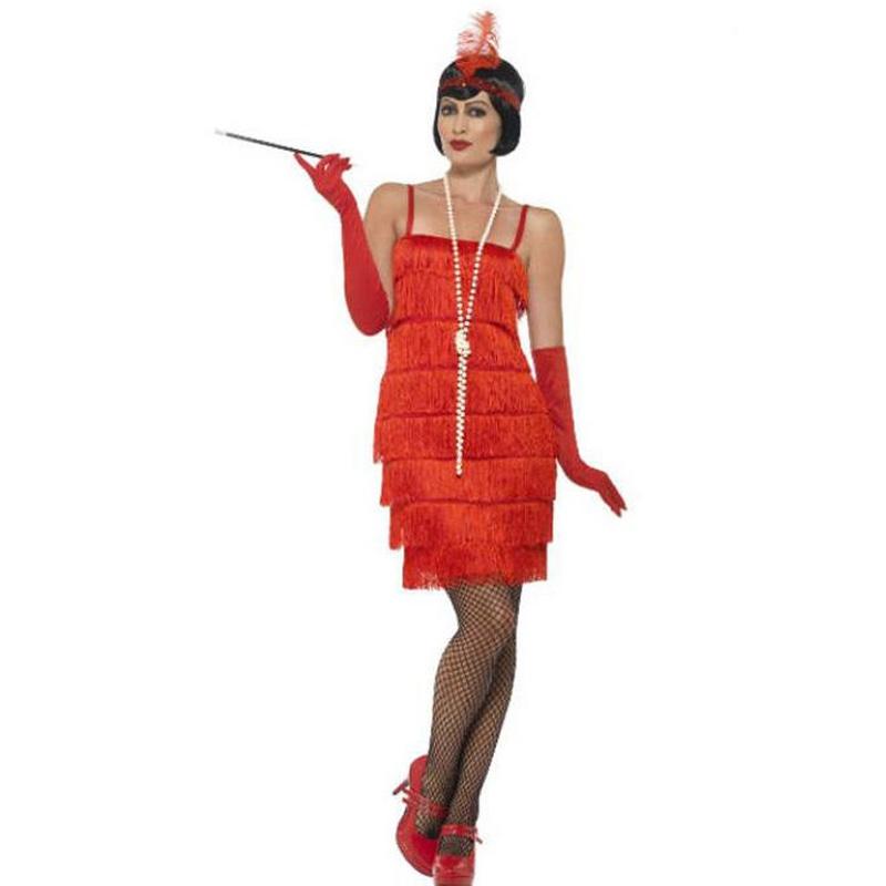 Disfraz años 20 rojo mujer