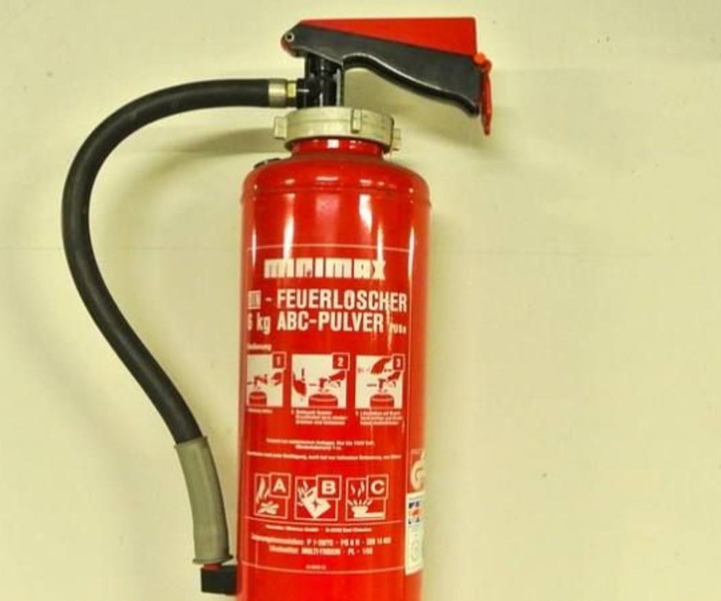 Los extintores de polvo químico seco