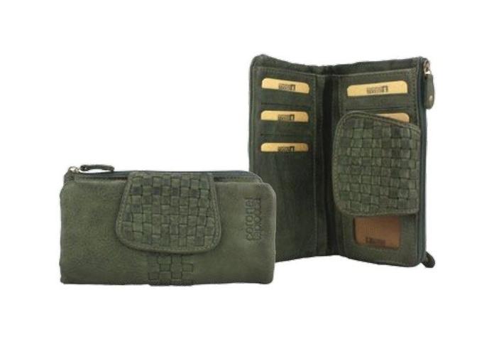 Monedero de piel verde: Productos de Zapatería Ideal