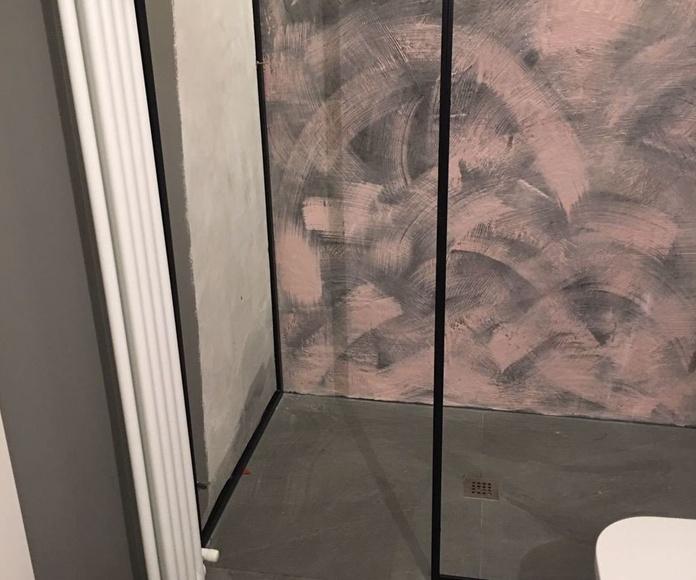 Mampara en acero inox lacado de negro