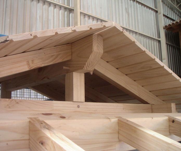 Marquesinas y techos de madera laminada
