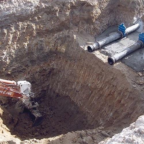 Excavación con retro excavadora