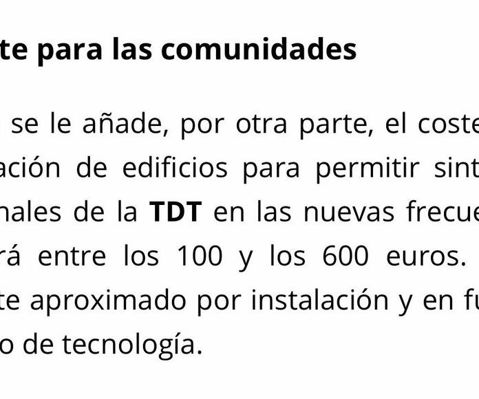 Mantenimiento de antenas Comunitarias en Plaza de Castilla