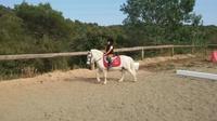 Clases de iniciación para los más pequeños. Aprender a llevar el pony solos en espacios abiertos!