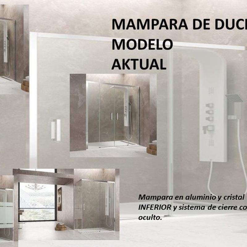 MAMPARA DE ALUMINIO SIN PERFILERÍA MODELO AKTUAL