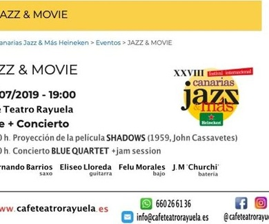 JAZZ & MOVIE – FESTIVAL CANARIAS JAZZ HEINEKEN 2019