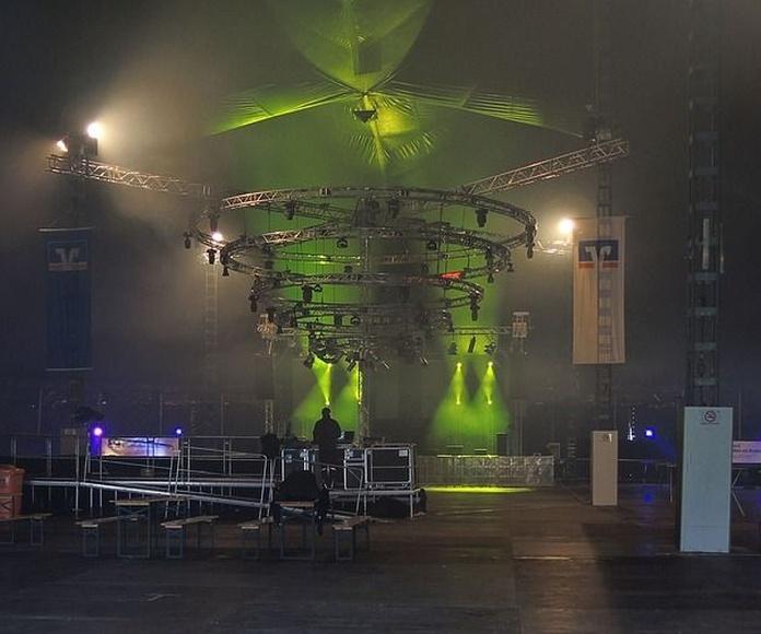 Iluminación para eventos: Servicios de Electricidad Sidelux