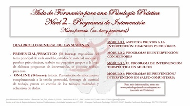 AULA DE FORMACIÓN PARA UNA PSICOLOGÍA PRÁCTICA NIVEL 2