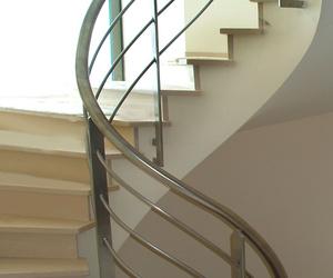 Barandilla escalera caracol acero inoxidable