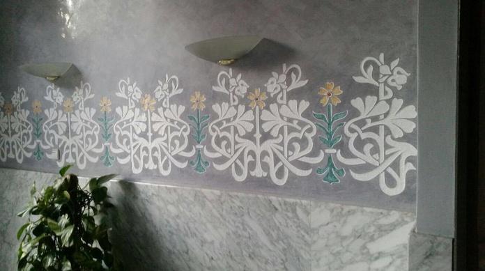 Pintura decorativa en vestíbulos de comunidades