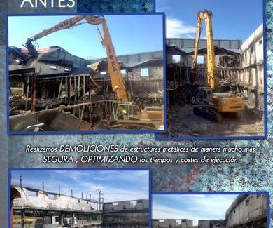 SERVICIOS GRUPO DE BLAS RECUPERACIONES,S.L.:Derribos, demoliciones y limpiezas industriales.