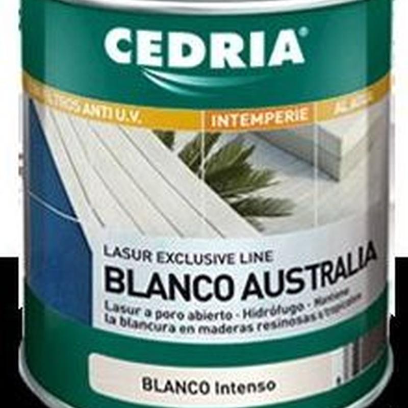 Lasur blanco AUSTRALIA CEDRIA en almacén de pinturas en ciudad lineal.