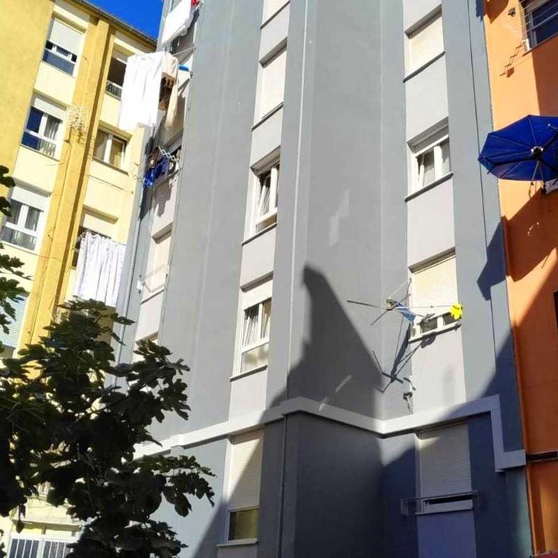 Rehabilitación de fachada con mortero