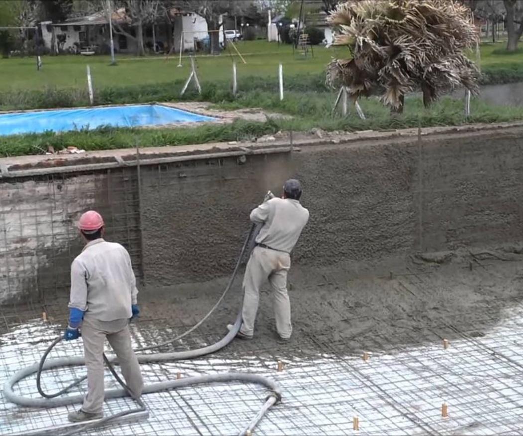Las piscinas de hormigón proyectado