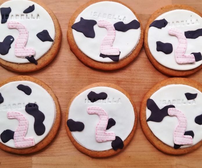 galletas vaca con número