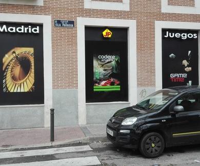 Letras en relieve Madrid