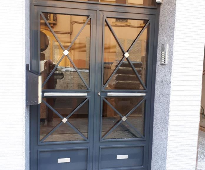 Puertas para edificios en Zaragoza