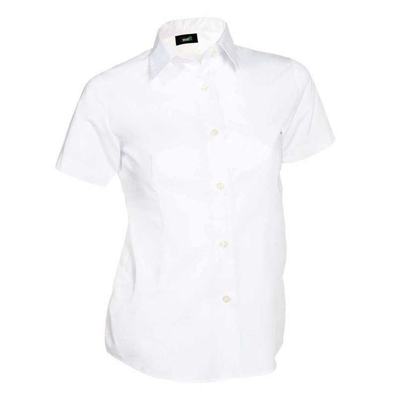 Camisa entallada manga corta mujer: Catálogo de Frade Ropa de Trabajo