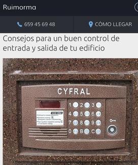 Control de entrada y salida en Comunidades empresa instaladora en Plaza de Castilla