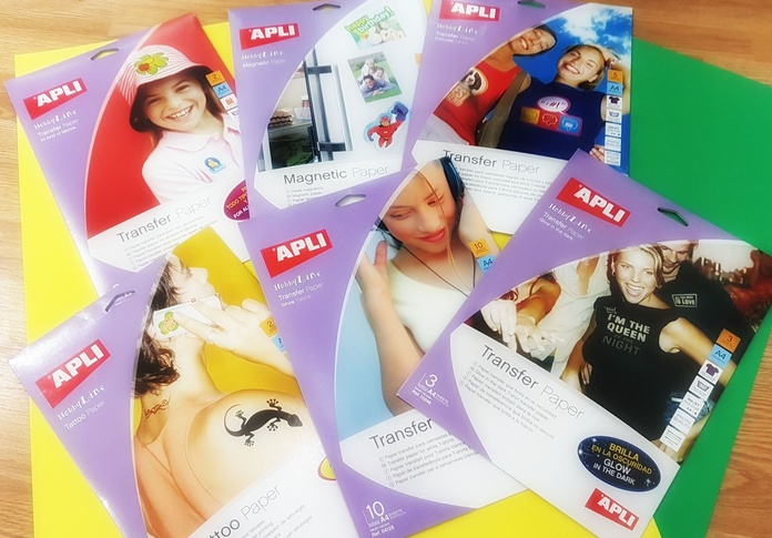 """Ha llegado ya todo tipo de papel Transfer de la marca """"Apli"""" fácil y cómodo de usar en casa"""