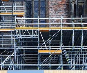 El andamio es la estructura segura durante la obra