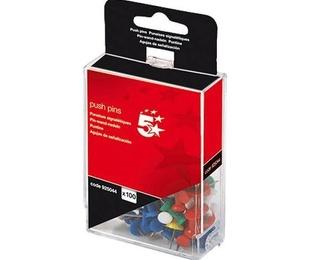 5 Estrellas caja de 100 Push Pins de colores surtidos