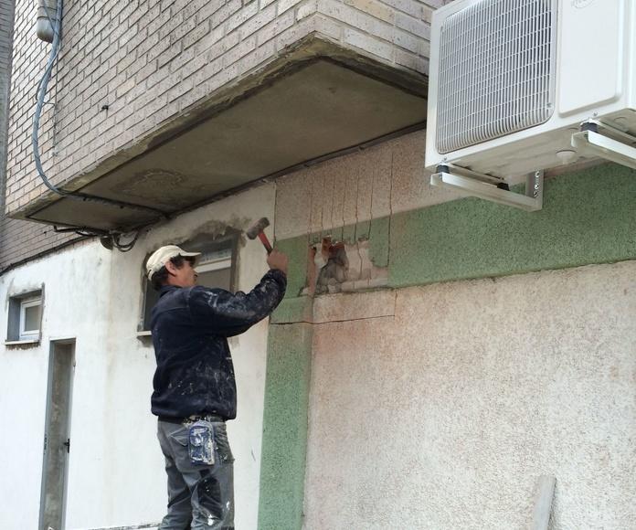 Apertura de huecos e instalación de rejillas de ventilación