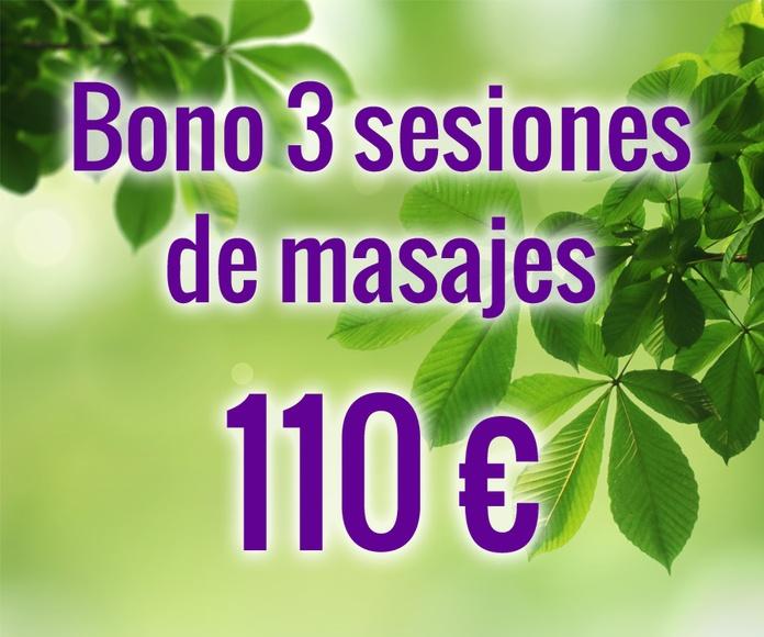 Bono 3 sesiones de masajes