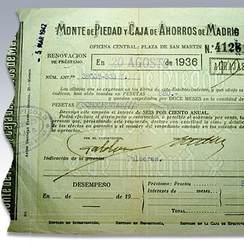 COMPRAMOS PAPELETAS DEL MONTE DE PIEDAD: Servicios de Credit Joyas