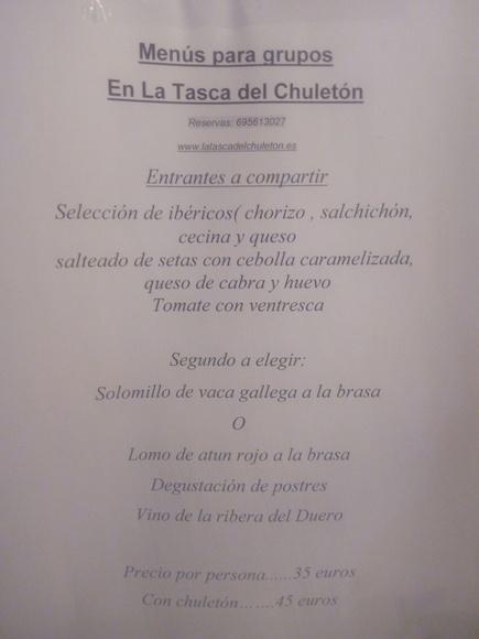 Menú para grupos en Guadalajara