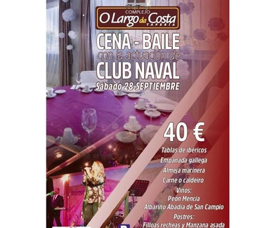 Cena - baile con actuación de Club Naval