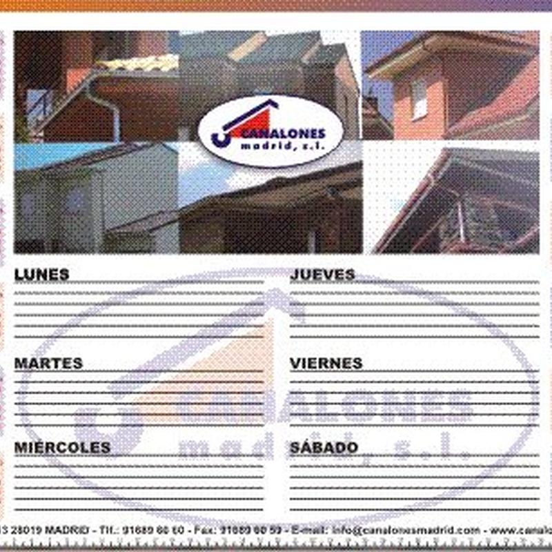 CALENDARIOS de pared, mesa, bolsillo, planning, etc...: Catálogo de Gráficas Antolín Imprenta
