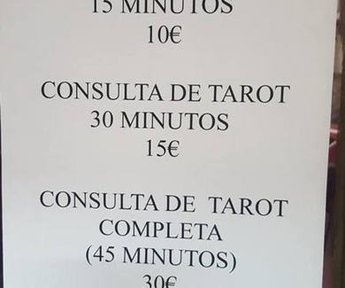 Ofertas de consultas de tarot