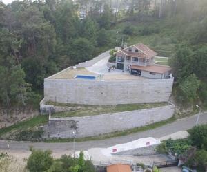 Muros mampostería rosa Porriño