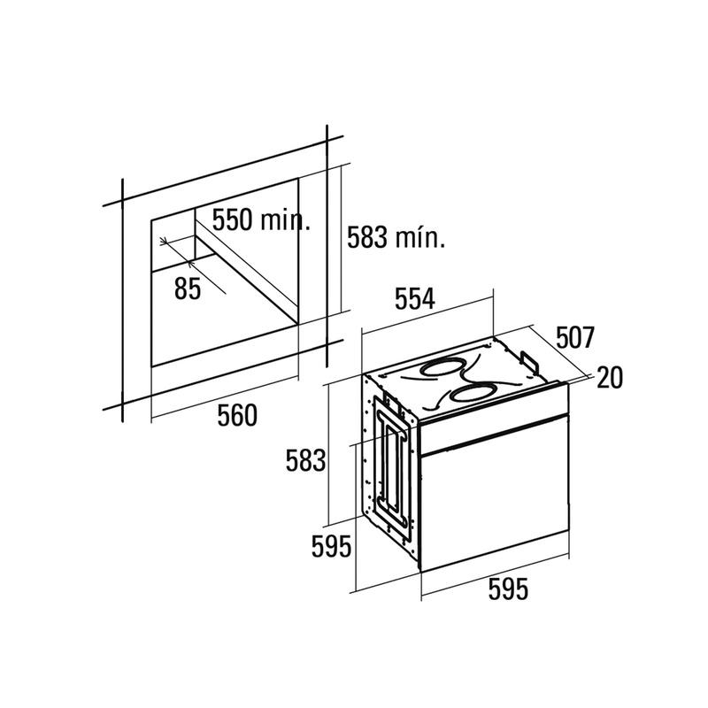 Horno Multifunción CATA CME 6106X: Catálogo de apluscocinas