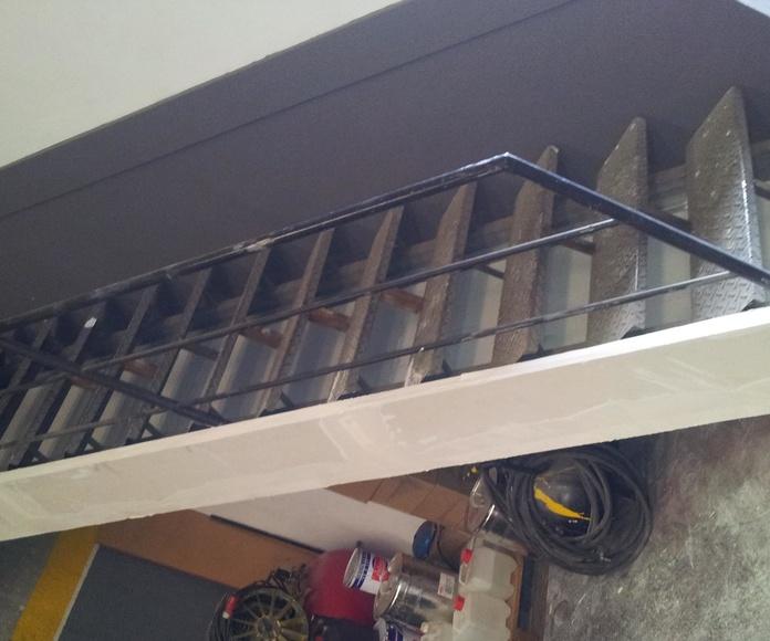 Protección escalera EI120