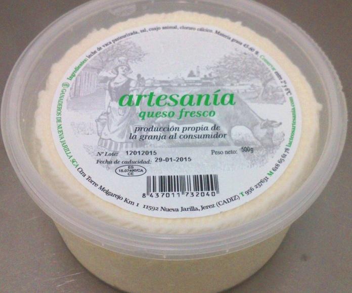Artesanía queso fresco en Nueva Jarilla, Cádiz