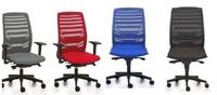 silla ergonómica de respaldo de malla y brazos opcionales