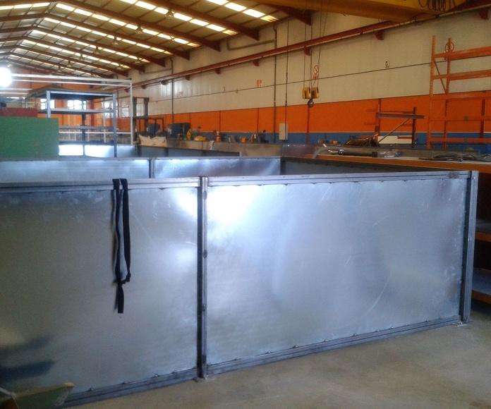 Mamparas industriales: TRABAJOS de Carpintería Metálica Hialupin