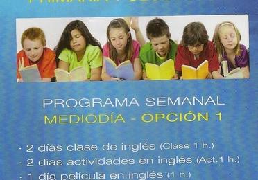 English Lessons Infantil, Primaria y Secundaria al mediodía