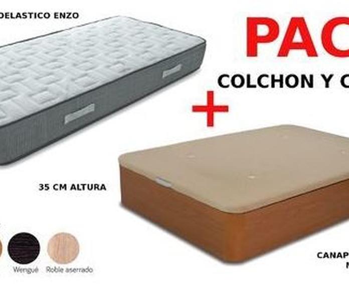 EV Colchoneria: conjuntos de colchón y canapé de madera desde 366€