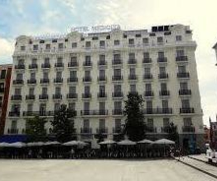 Hotel Mediodia pintado con silicato