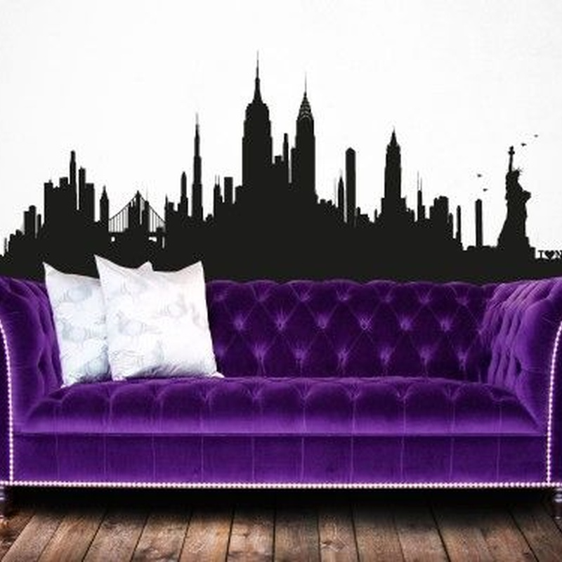 Wall sticker vinilo decorativo New York Skyline XL en Barcelona