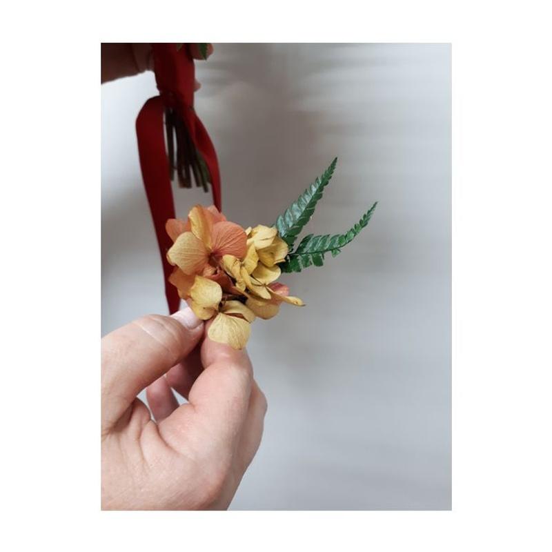 Novio, flor seca