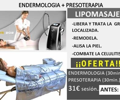 Oferta endermología + presoterapia