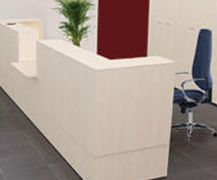 Mostradores y recepciones serie Fura. Muebles de oficina.