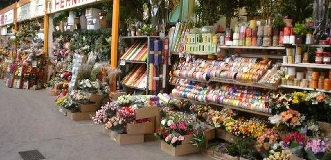 Flores artificiales en Girona