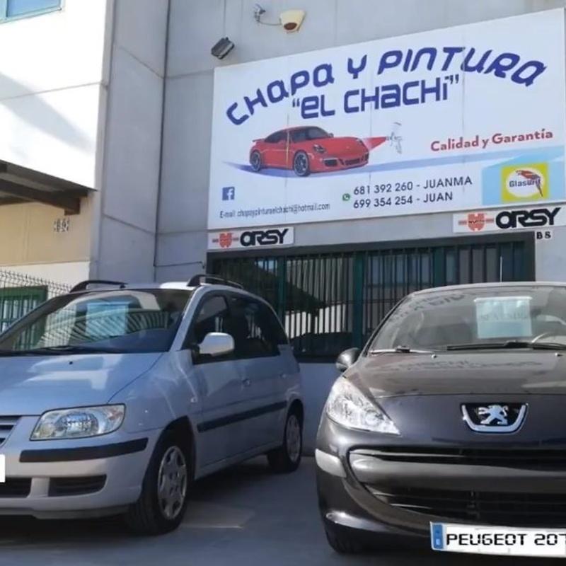 Servicio a domicilio: Catálogo de Chapa y Pintura El Chachi