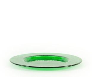 Plato de presentación verde